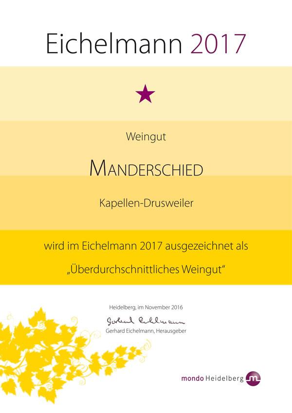 Eichelmann Urkunde 2017